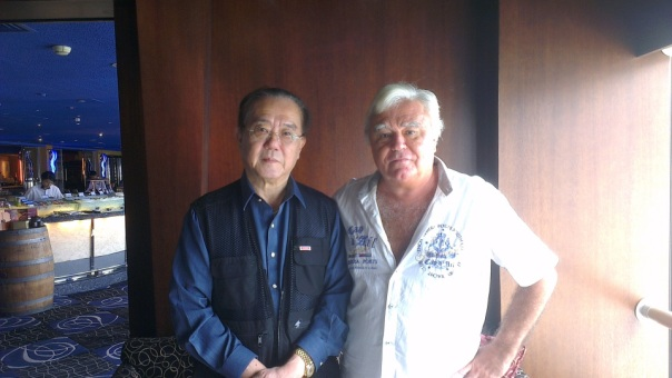 Neil Keenan with Count Albert Chiang in Hong Kong, July, 2013